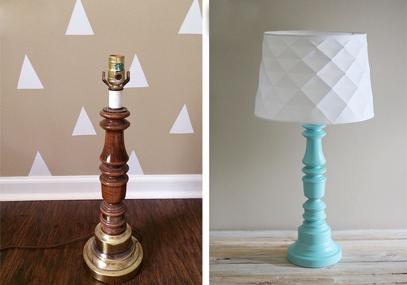 Recycled table lamps